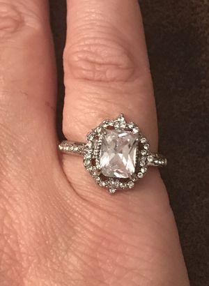 Cubic Zirconia Victorian Engagement Ring for Sale in San Antonio, TX