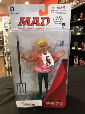 Mad - Alfred E Neuman as Aquaman action figure for Sale in Vancouver, WA