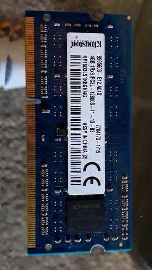4gig DDR3 labtop memory 25.00obo for Sale in Nashville, IN