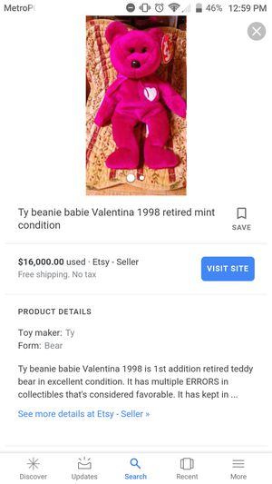 RareValentina beanie baby for Sale in Jackson, NJ