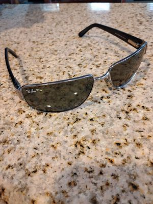 RAY BAN RB3189 LEATHER II 004/9A 61[]16 3P POLARIZED METAL WRAPs SUNGLASSES for Sale in Las Vegas, NV
