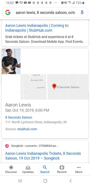 Aaron Lewis Tickets for Sale in Whiteland, IN