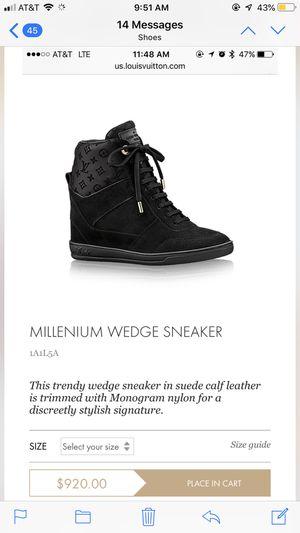 Louis Vuitton Millennium Wedge Sneakers for Sale in Orlando, FL