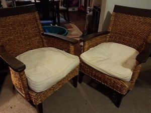 A set of Wicker woven chairs (sold separate or together) for Sale in Columbus, OH
