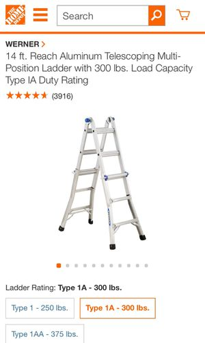 14ft Multi Positions Ladder for Sale in Dallas, TX