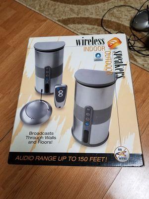 Wireless indoor outdoor speakers for Sale in Columbus, OH