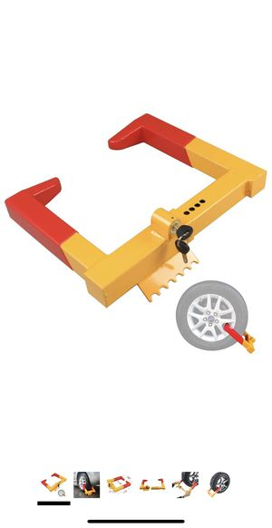 OKLEAD Trailer Wheel Locks clamp - Tire Lock Anti Theft Wheel Boot tire Claw Security Boots for ATV Trailers Yellow/Red 2 Keys for Sale in Los Angeles, CA