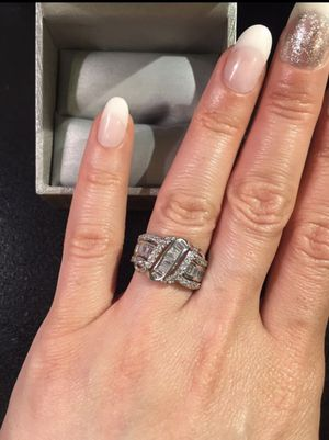 👰❤️💍18K Gold plated Ring - Multi Baguette/ Prince-S- Prince Cut for Sale in Dallas, TX