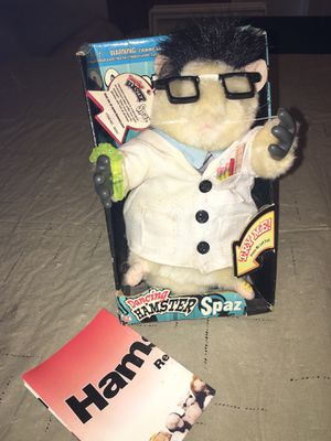 New Rare Gemmy singing hamster Spaz working sings Science W Poster Toy Figure for Sale in Rochester Hills, MI
