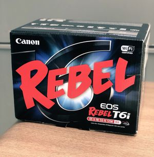 Canon Rebel EOS T6i Kit - NEW with receipt for Sale in Columbia, MO