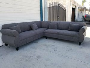 NEW 9X9FT ANNAPOLIS GRANITE FABRIC SECTIONAL COUCHES for Sale in Temecula, CA