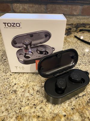 TOZO T10 Bluetooth 5.0 Wireless Earbuds with Wireless Charging Case IPX8 Waterproof TWS Stereo Headphones in Ear Built in Mic Headset Premium Sound w for Sale in Mesa, AZ