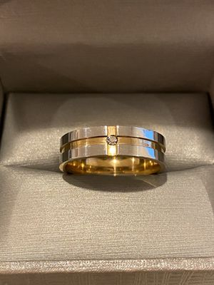 18K Gold plated- UNISEX- Engagement Diamond Ring 💍 — Code MTR39 for Sale in Houston, TX