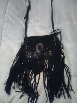 Black fringe handbag for Sale in Sacramento, CA