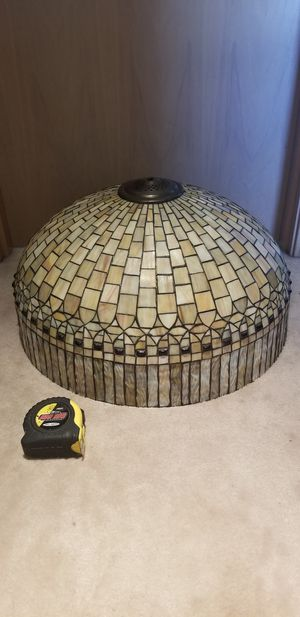 "Beautiful mosaic lamp shade, 22"" wide x 12"" tall, perfect condition! for Sale in Bainbridge Island, WA"
