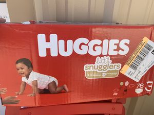 New Huggies Little Snugglers Baby Diapers, Size 3, 76 Ct, SUMMERLIN for Sale in Las Vegas, NV