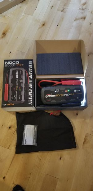 NOCO Boost HD GB150 4000 Amp 12-Volt Ultra Safe Portable Lithium Car Battery Jump Starter Pack for Sale in Kent, WA