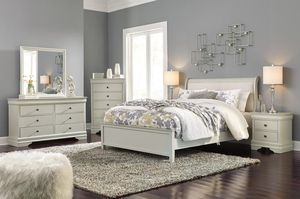 Jorstafd Gray Sleigh Bedroom Set for Sale in Linthicum Heights, MD