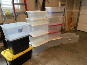 Lot of 15 Large and Medium Sized Containers / Storage Bins for Sale in Maple Valley, WA