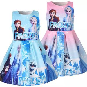 Girls lovely small children's vest dress Cotten summer Elsa fashion for Sale in Arlington, VA