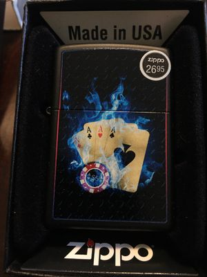 Smokin 4 ACES Cards New Zippo Lighter with Flints ! for Sale in Wilmington, MA