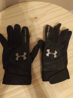New Under Armour Black & Grey Baseball Batting Gloves Large $10 CASH ONLY for Sale in Austin, TX