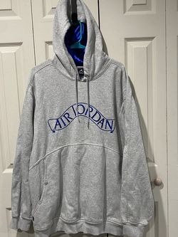 Nike Air Jordan Men's Gray/Blue Pull Over Hoodie Sweater, XL for Sale in La Mirada,  CA