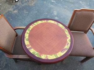 Restaurant style table with two chairs for Sale in Yucca Valley, CA