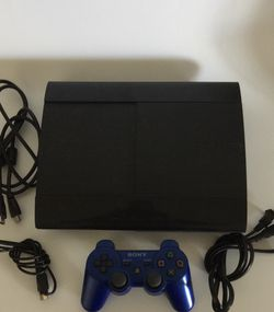 Sony PlayStation 3 SuperSlim Edition Black Console System PS3 Works. Console and power cord one controller Hdmi Cable only! for Sale in Los Angeles,  CA