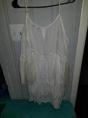 Size M woman white baby doll dress for Sale in New Castle, DE