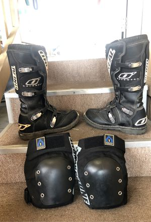 O'NEAL riding boots size 11 with knee protector pads. for Sale in Carson, CA