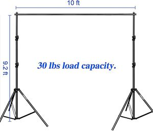 EMart Photo Video Studio 9.2 x 10 ft Heavy Duty Backdrop Support Kit for Sale in Los Angeles, CA