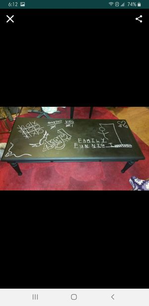 Black chalk coffee table for Sale in Pittsburgh, PA