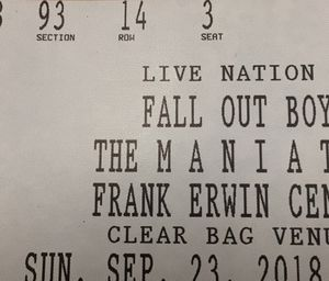 TONIGHT ONLY Fall Out Boy/Machine Gun Kelly MANIA Tour Tickets 09/23/18 for Sale in Austin, TX
