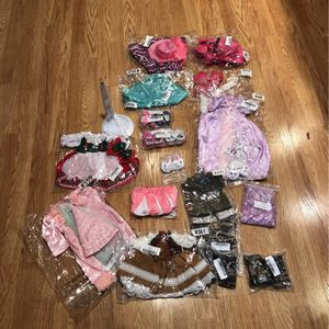 Brand New Doll Clothes And Doll Stand for Sale in Winfield, IL