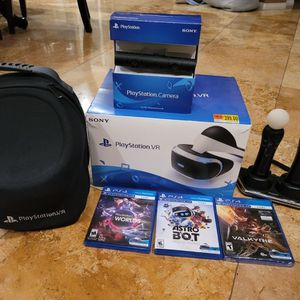 Playstation Vr Virtual Reality Bundle Move Controllers And Camera Ps5 Playstation 5 Compatible for Sale in Norco, CA