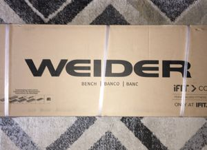 New sealed box! Weider Flat Bench with a Sewn Vinyl Seat for Sale in Mesquite, TX