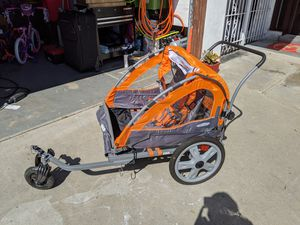 Instep Quick-N-EZ Double Tow Behind Bike Trailer, Converts to Stroller/Jogger for Sale in San Diego, CA