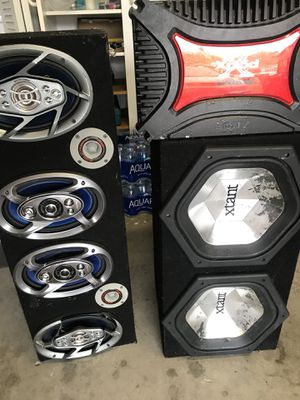 Spaekers pioneer Xtrant Sony xplod amplifier amp 1000 Watts for Sale in Orlando, FL