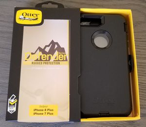 iPhone 8 Plus iPhone 7 Plus Otterbox Defender Series Case with belt clip holster for Sale in Canyon Country, CA