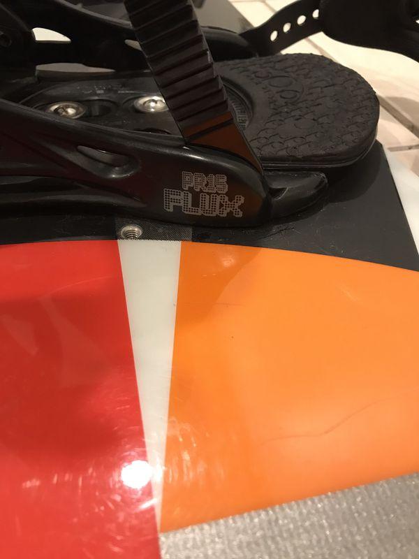 ***Burton Clash Snowboard with Flux PR15 bindings***