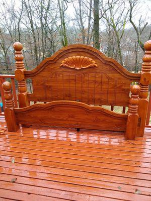 Antique King head board and foot board (heavy duty) plus rails. for Sale in North Little Rock, AR