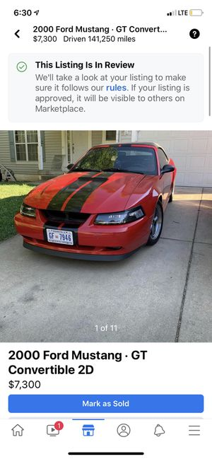2000 Ford Mustang gt 5 speed manual for Sale in Washington, DC