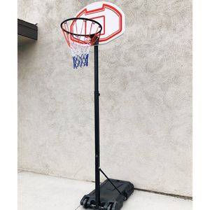 "$50 New in box junior basketball hoop 28""x19"" backboard adjustable rim height 5-7ft kids outdoor sports for Sale in Santa Fe Springs, CA"