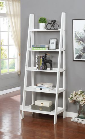 Brand New 5 Tier White Wood Ladder Shelf (New in Box) for Sale in Wheaton, MD
