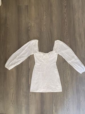 Boohoo White Long Sleeve Dress - Size Small for Sale in Los Gatos, CA