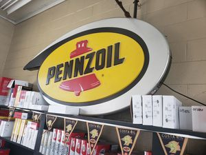 Pennzoil lighted sign 6ftx4ft for Sale in Millersville, MD