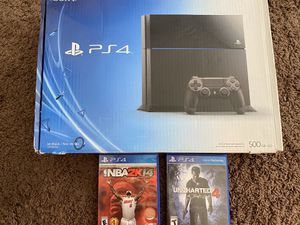 Sony PlayStation 4 Console 500GB with 2 Controllers and 2 Games for Sale in Chandler, AZ