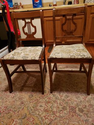 Set of 4 Lyre back chairs for Sale in Delaware, OH