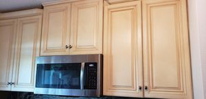 Wood Kitchen cabinets, granite and faucet in good condition for Sale in Brandon, FL